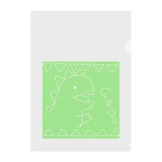 KAIJUU(グリーン) Clear File Folder