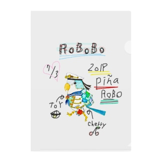ROBOBO「ぴにゃロボ」 Clear File Folder