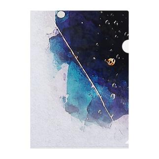 雨の夜 Clear File Folder