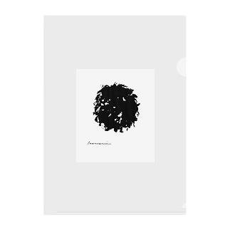 白川香翠 墨の雑貨 毛糸玉 Clear File Folder