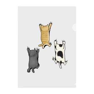 登ってくるネコたち Clear File Folder
