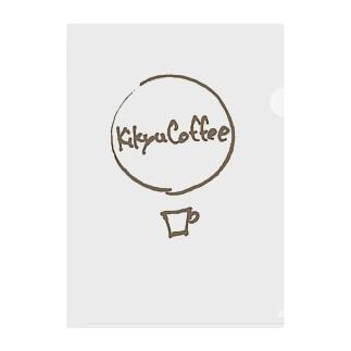 気球コーヒーロゴ ハンドライト Clear File Folder
