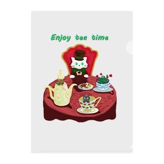 Enjoy tea party♪ Clear File Folder