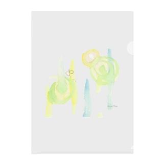 水彩と蝶 | Atelier*Note Clear File Folder