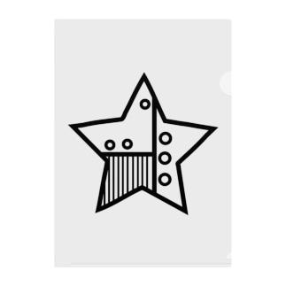 星 機械 Clear File Folder