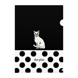 dot plus シロネコ Clear File Folder