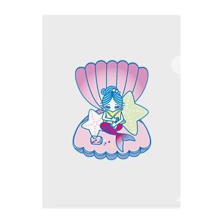 居眠り人魚 Clear File Folder