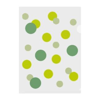 みどりの水玉 Clear File Folder