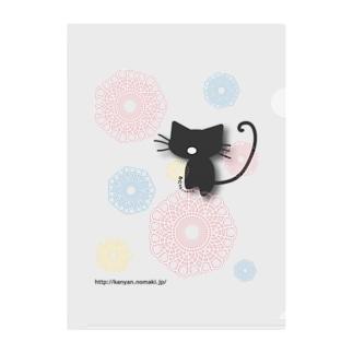 レースシャボン猫 Clear File Folder