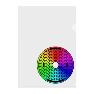 ゲーミングマンホール03_posi黒 Clear File Folder