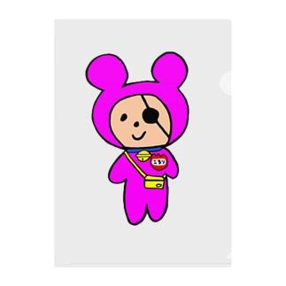 ショッキングピンク幼稚園児コロリ Clear File Folder
