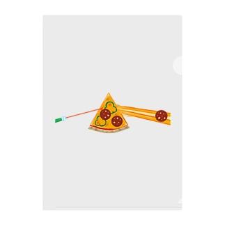狂気とチーズほとばしるピザ Clear File Folder