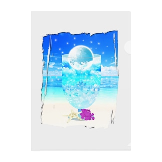 Moon Soda Clear File Folder