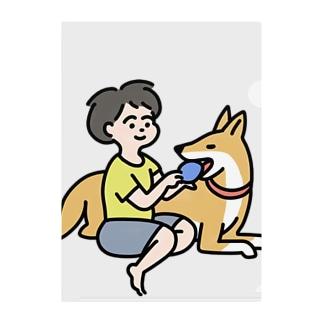 ムスコとイヌ Clear File Folder