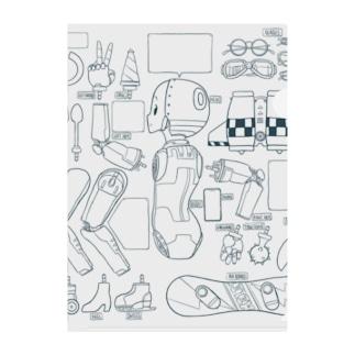 アルミ女子の支度部屋 Clear File Folder
