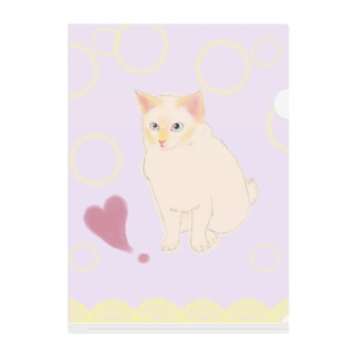 elegant & funny 猫さんシリーズ Clear File Folder