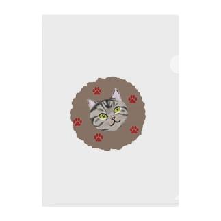 カジュアル猫さんシリーズ Clear File Folder