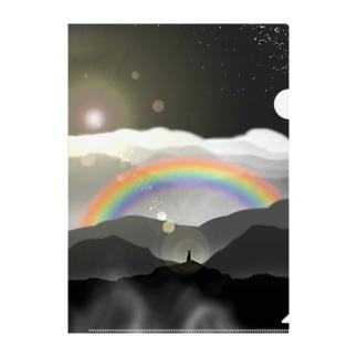 頂きからの虹 Clear File Folder