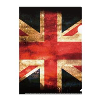 GRUNGE-flag_UK Clear File Folder
