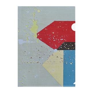 'in between blues' - left Clear File Folder