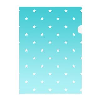 水色 Clear File Folder
