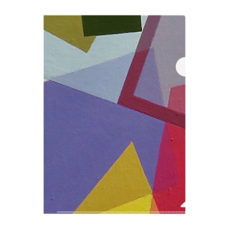 Abstract letter series - ホ Close up Ver. Clear File Folder