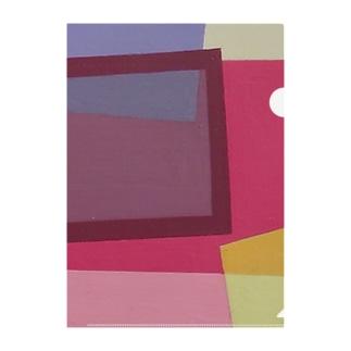 ララ Abstract letter series - Close up Ver. Clear File Folder