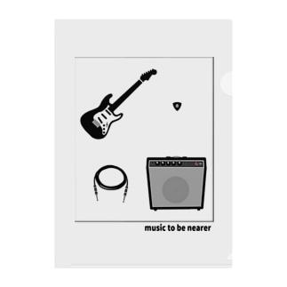 musicshop BOBのmusic to be nearer - ミヂカニオンガクヲ Clear File Folder