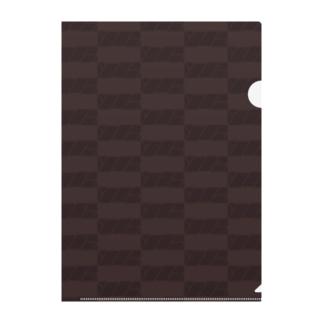 ボックスロゴ(チョコレート) Clear File Folder