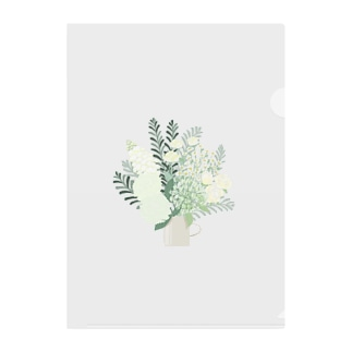 white flower bouquet  Clear File Folder
