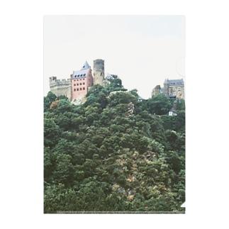 ドイツ:シェーンブルク城とライン川 Germany: Burg Schönburg am Rhein Clear File Folder