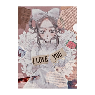 sweet lily girl Clear File Folder