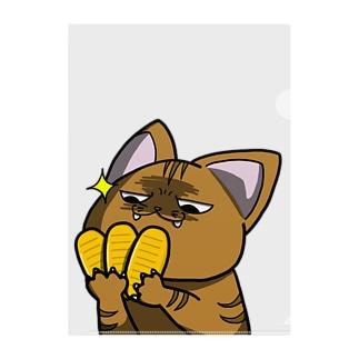 思う屋の価値の分かる猫 Clear File Folder