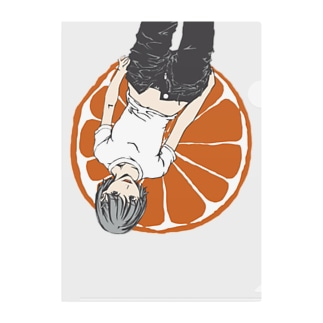 オレンジちゃん Clear File Folder