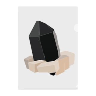 """モリオン(黒水晶) """"グラフィックVer."""" Clear File Folder"""