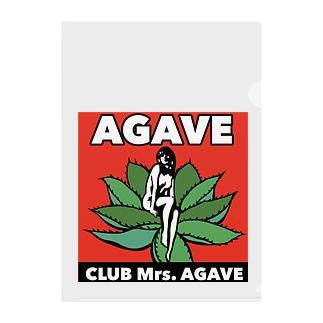 CLUB Mrs.AGAVE Clear File Folder