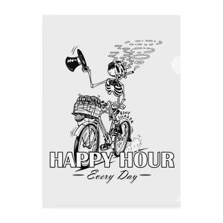 """""""HAPPY HOUR""""(B&W) #1 Clear File Folder"""