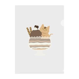 アビシニアンのチョコレートパフェ Clear File Folder
