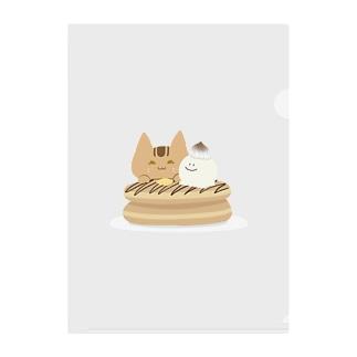 アビシニアンのチョコパンケーキ Clear File Folder