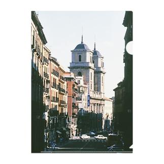 スペイン:マドリードの風景写真 Spain: view of Madrid Clear File Folder