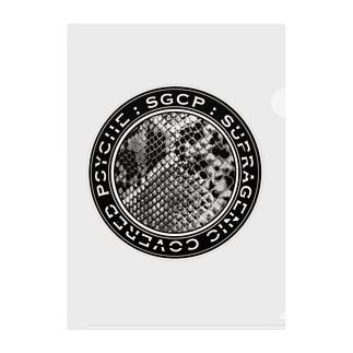 SGCP パイソン グレージュ Clear File Folder