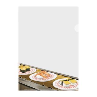 お寿司屋さん Clear File Folder