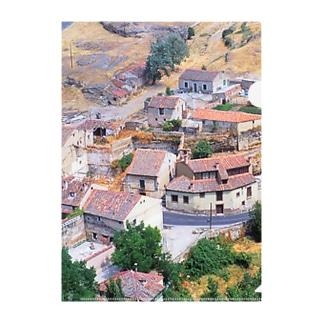 スペイン:セゴビア郊外の村の風景 Spain: view of a village near around Segovia Clear File Folder