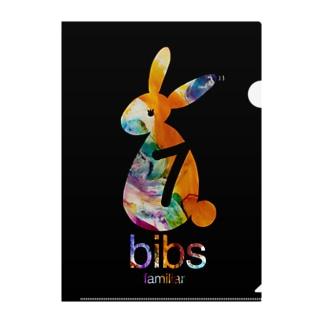 bibs familiar_筆記用具 Clear File Folder