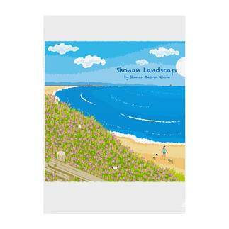 湘南ランドスケープ08:海辺のハマダイコン Clear File Folder