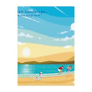 湘南ランドスケープ02:ひこうき雲 Clear File Folder