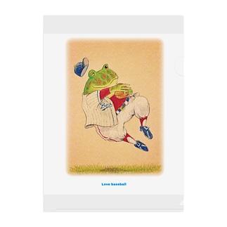 野球日和 助っ人両生類 Clear File Folder