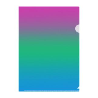 グラデーション プライドフラッグ ポリセクシュアル Clear File Folder