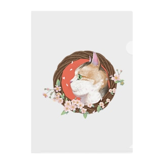 桜と三毛猫  Clear File Folder