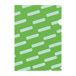 Green Clear File Folder